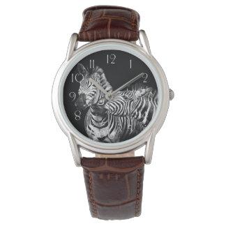 Gives-a-kiss-zebras Watch