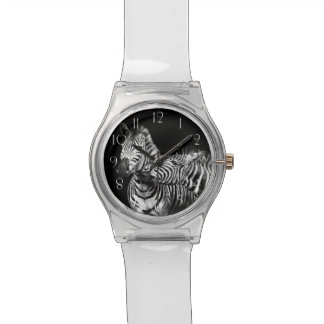 Gives-a-kiss-zebras Watch
