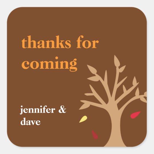 Giving thanks falling leaves tree Thanksgiving tag