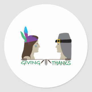Giving Thanks Round Stickers