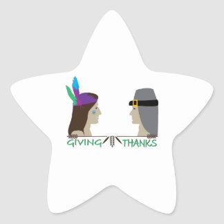 Giving Thanks Star Stickers