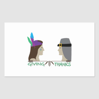 Giving Thanks Rectangular Sticker