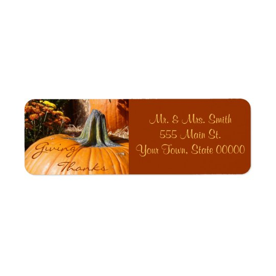 Giving Thanks Thanksgiving Label