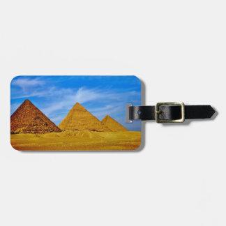 Giza Pyramids Luggage Tag