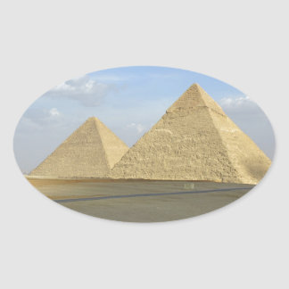 Giza Pyramids Photo Oval Sticker