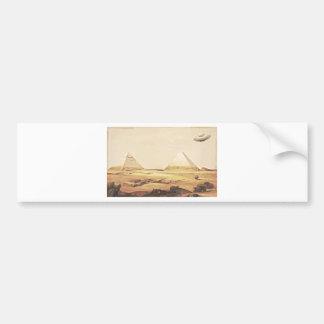 Giza Spaceship Bumper Sticker