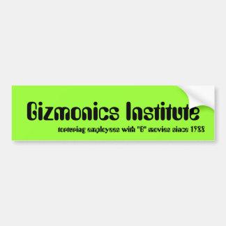 Gizmonics Institute Bumper Sticker