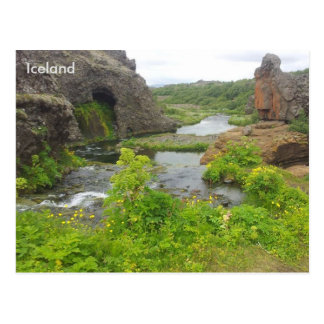 Gjáin in Þjórsárdalur valley, Iceland Postcard