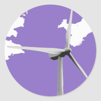 GKWF purple Round Sticker