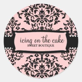 Glaçage doux de la cerise sur le gâteau 311 sticker rond