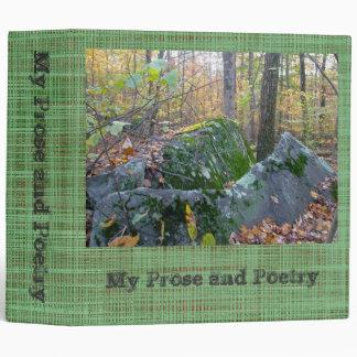Glacial Boulders Montgomery County Pennsylania Vinyl Binder