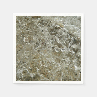 Glacial Ice Abstract Nature Textured Design Paper Napkin