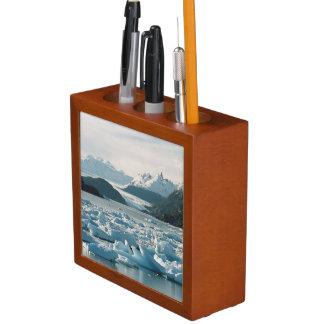 Glacial Icebergs Pencil Holder