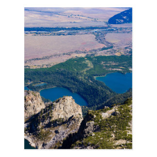 Glacial lakes from above postcard