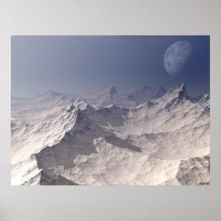 Glacial Landscape Poster