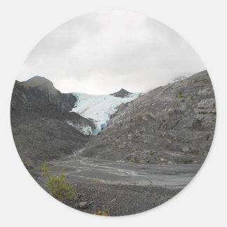 glacier18 classic round sticker