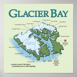 Glacier Bay Map Portfolio Print