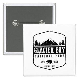 Glacier Bay National Park 2 Inch Square Button