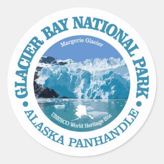 Glacier Bay National Park (color) Classic Round Sticker