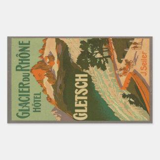 Glacier du Rhône Hotel Sticker