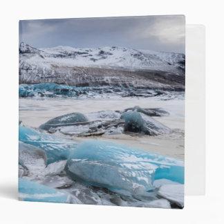 Glacier Ice landscape, Iceland Vinyl Binder