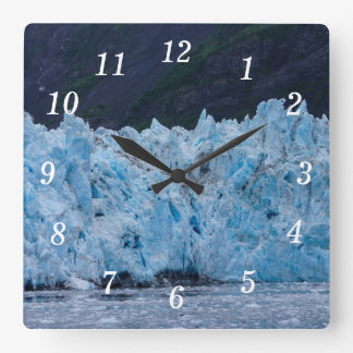 Glacier in Prince William Sound Alaska Square Wall Clock
