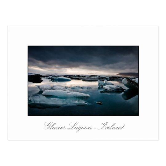 Glacier Lagoon August 2009 #2c Sunset Postcard