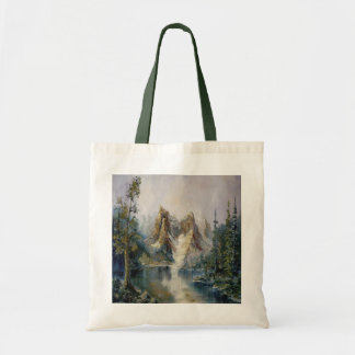 Glacier Lake Canvas Tote Bag