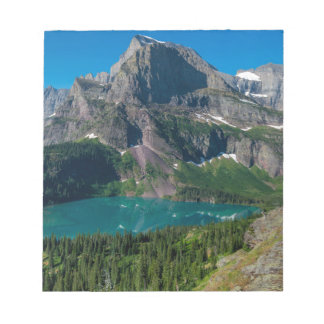 Glacier lake in a mountain, Montana Notepad