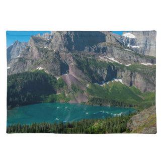 Glacier lake in a mountain, Montana Placemat