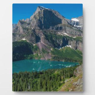 Glacier lake in a mountain, Montana Plaque