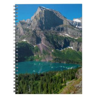 Glacier lake in a mountain, Montana Spiral Notebook