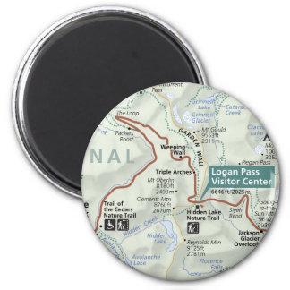 Glacier (Montana) map magnet