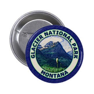 Glacier National Park 2 Inch Round Button