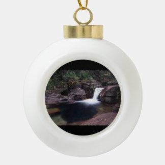 Glacier National Park Ceramic Ball Christmas Ornament