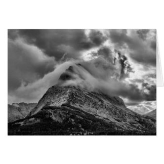 Glacier National Park Clouds Over Grinnell Point Card