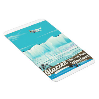 Glacier National Park, Montana vintage poster Magnet