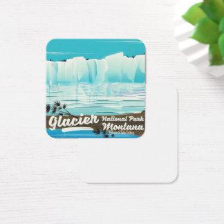 Glacier National Park, Montana vintage poster Square Business Card