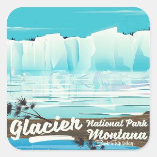 Glacier National Park, Montana vintage poster Square Sticker