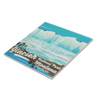 Glacier National Park, Montana vintage poster Tile