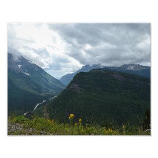 Glacier National Park Poster on satin paper