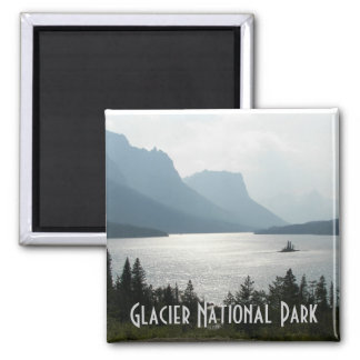 Glacier National Park Travel Photo Square Magnet