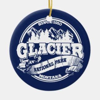 Glacier Old Circle Blue Ceramic Ornament