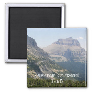 Glacier Park Travel Photo Square Magnet