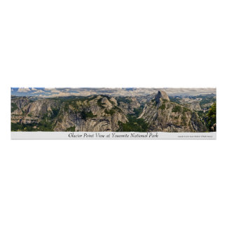 Glacier Point View at Yosemite Poster