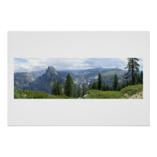 Glacier Point view of Half Dome Poster