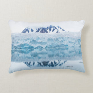 Glacier reflections, Norway Accent Pillow