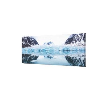 Glacier reflections, Norway Canvas Print