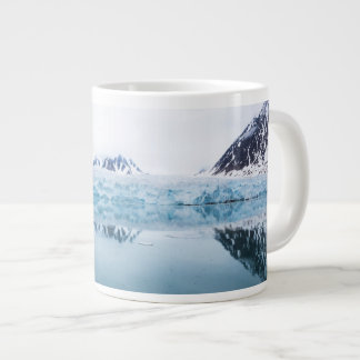 Glacier reflections, Norway Large Coffee Mug
