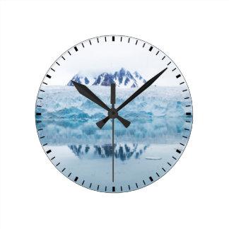 Glacier reflections, Norway Round Clock